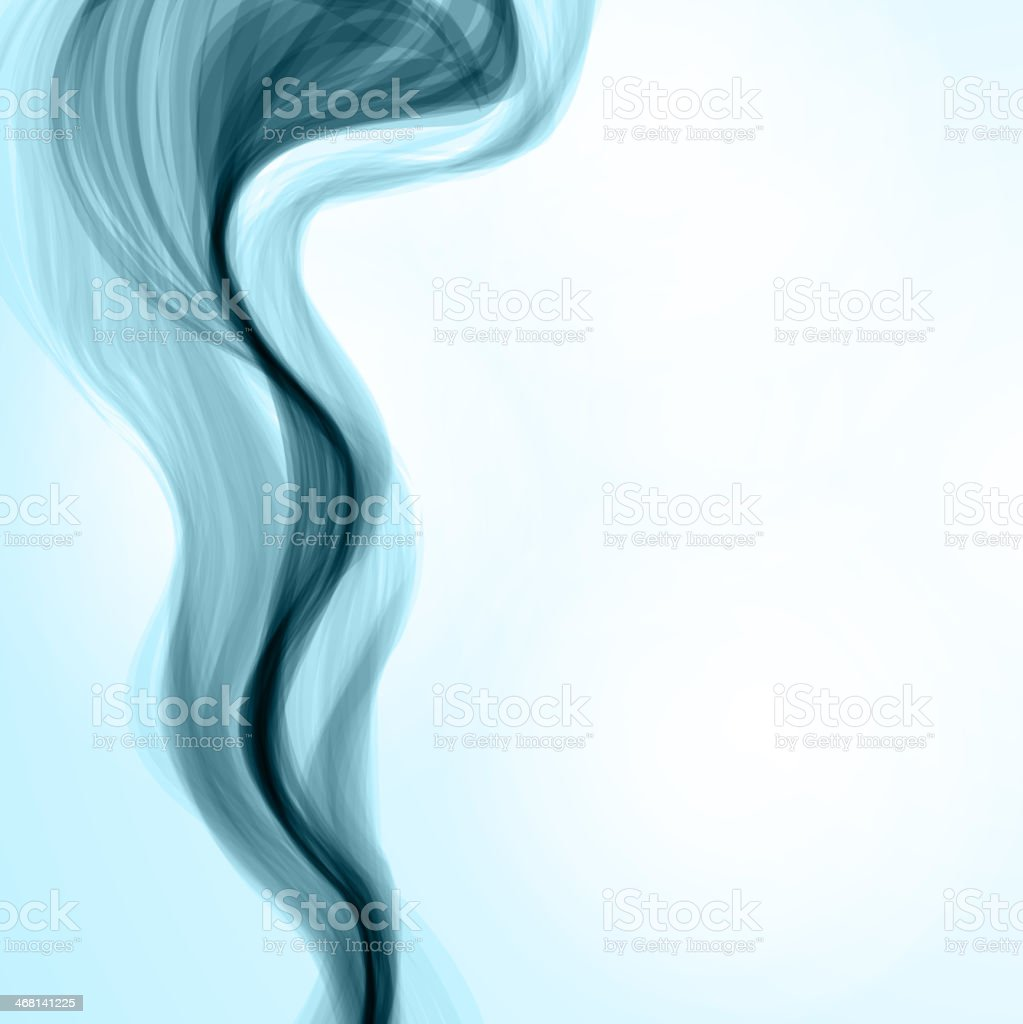 Blue smoke background vector art illustration