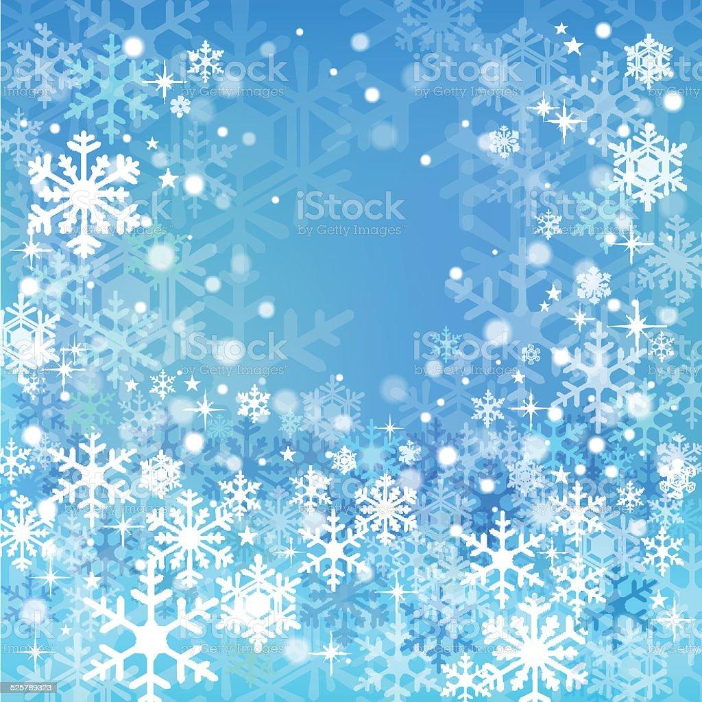 ブルー雪背景 のイラスト素材 525789323 | istock