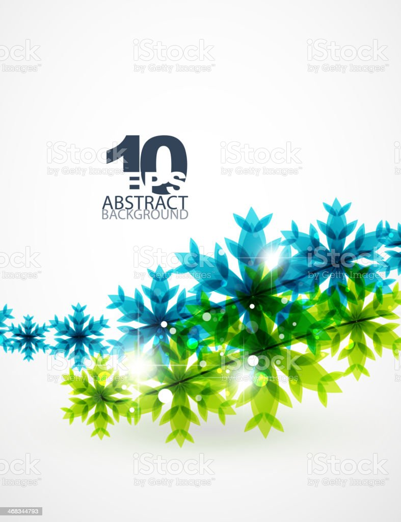 Blue snowflake abstract background royalty-free blue snowflake abstract background stock vector art & more images of abstract