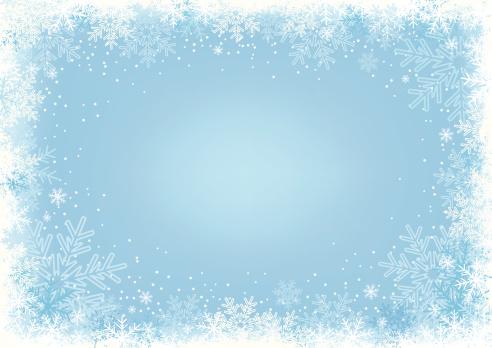 Blue Snowflake Background.