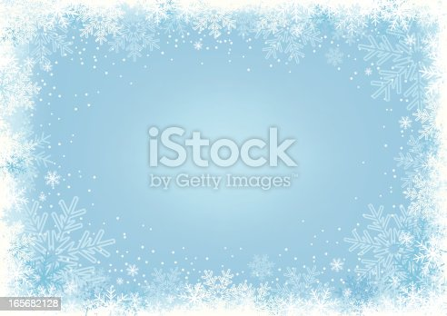 Winter background with snowflakes, vector illustration. High-res JPEG included.