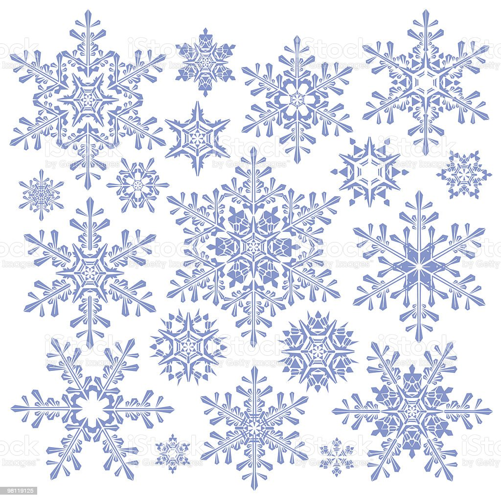 blue snowflake collection royalty-free blue snowflake collection stock vector art & more images of abstract