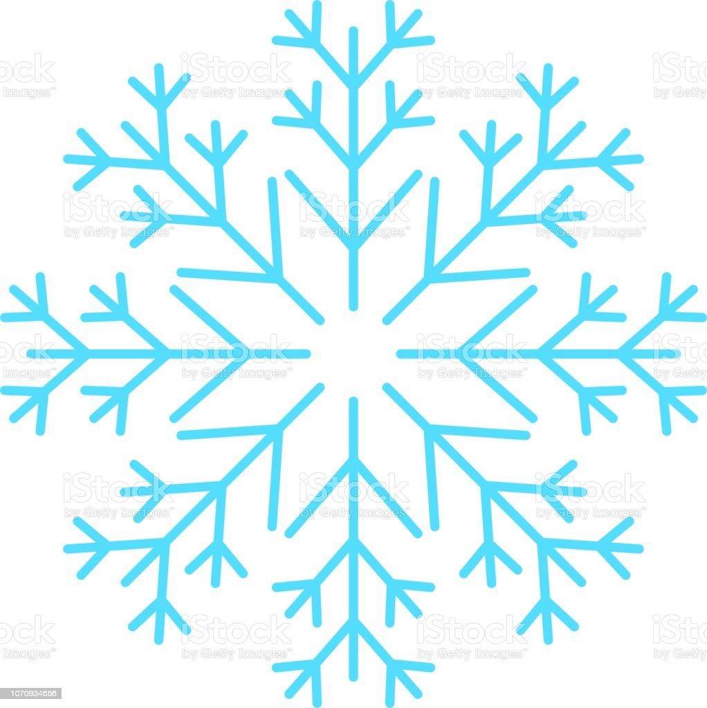 Blaue Schneeflocke – Vektorgrafik