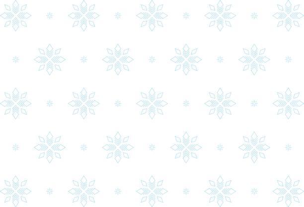 Blaue Schneeflocken, nahtlose Muster – Vektorgrafik