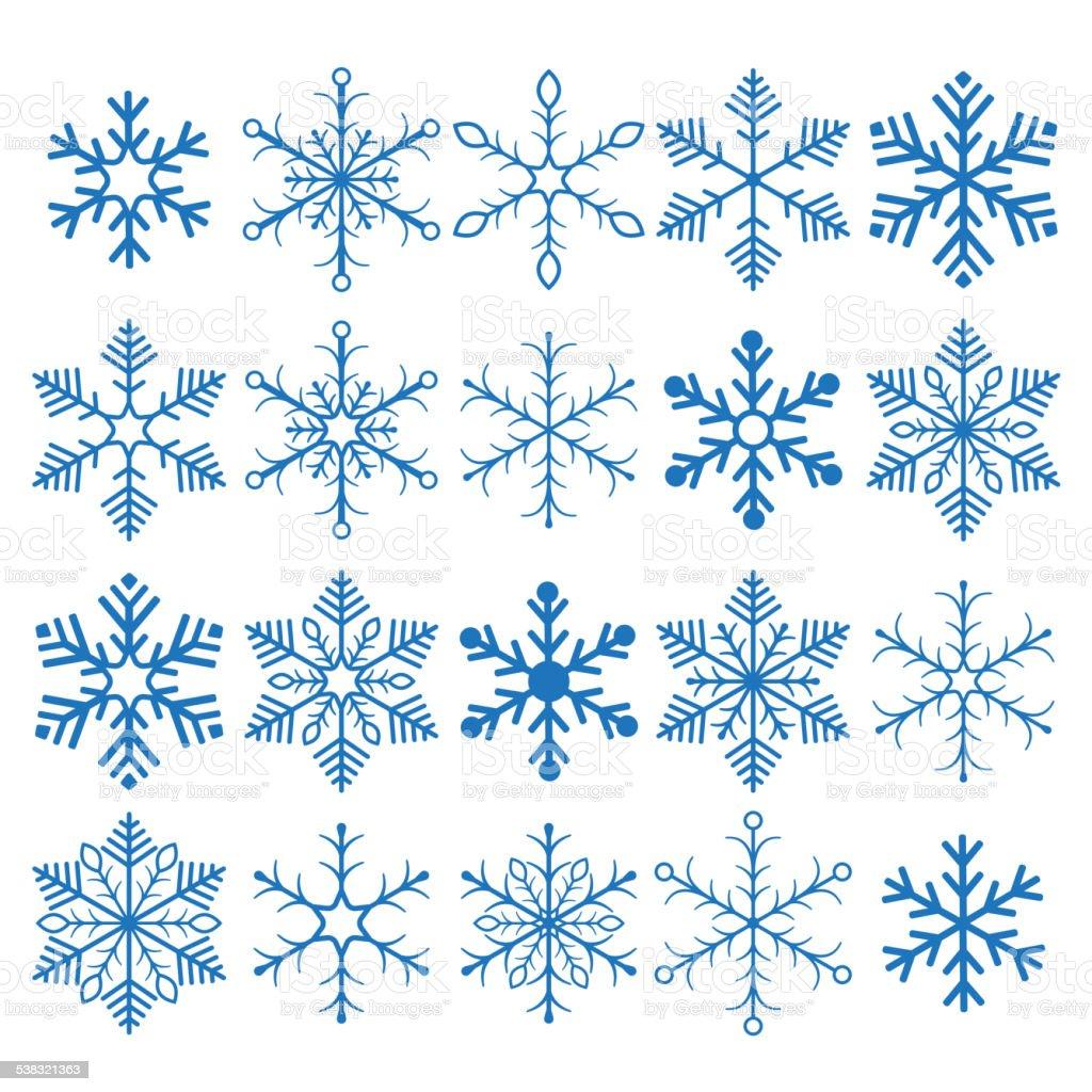 Blue Snowflakes vector art illustration