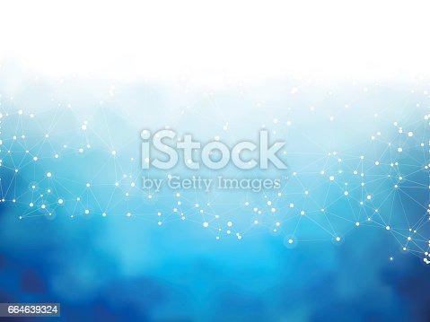 modern style blue social network background