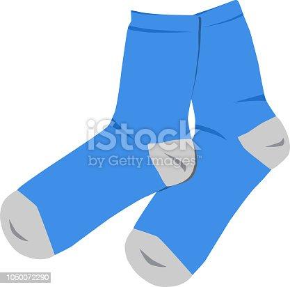 istock Blue socks vector illustration 1050072290