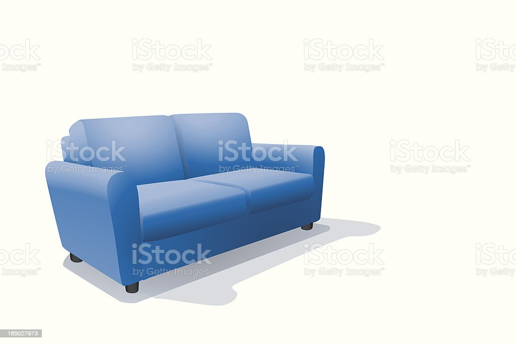 Blue Sofa royalty-free stock vector art