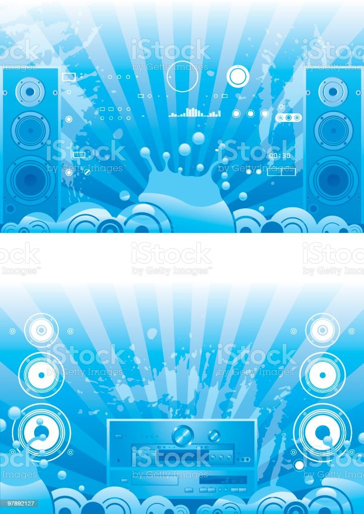 Blue sound royalty-free blue sound stock vector art & more images of amplifier