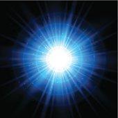 Blue space starburst background