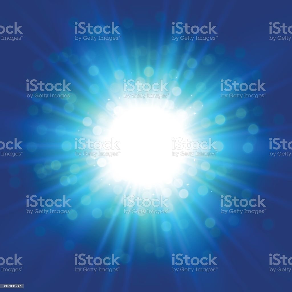 Blue space starburst background vector art illustration