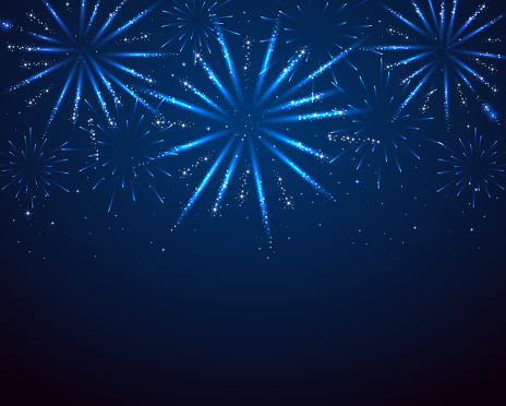 Blue sparkle fireworks