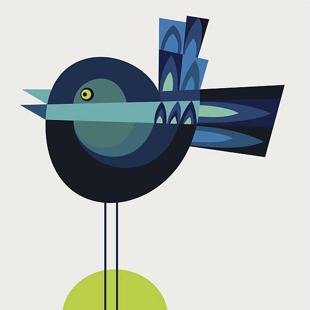 ilustraciones, imágenes clip art, dibujos animados e iconos de stock de gorrión azul - tintanegra00