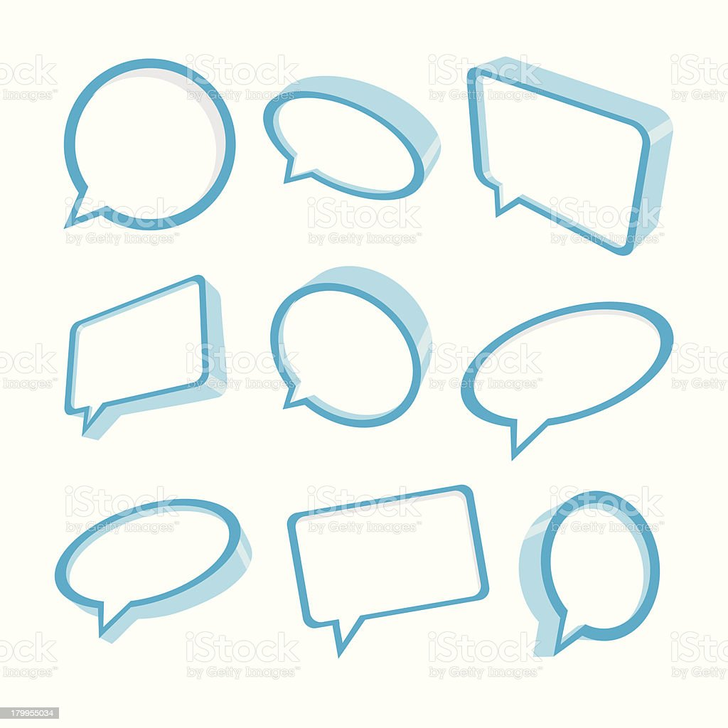 Blue speech bubbles royalty-free stock vector art