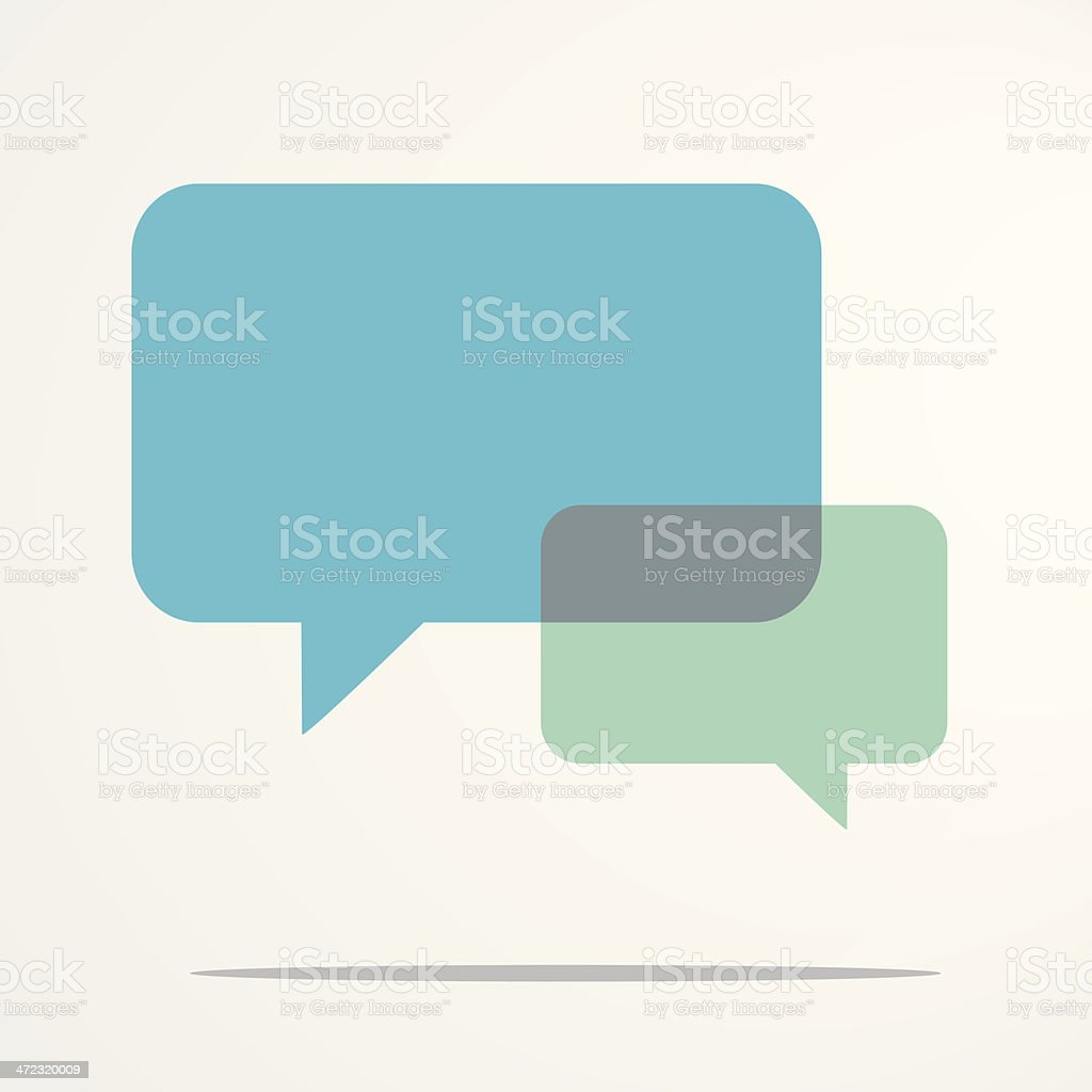 Blue speech bubbles royalty-free stock vector art