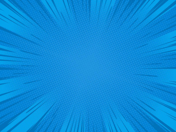 Blue speed lines 2 Radial blue speed lines for comic books. Explosion background.Vector illustration. cartoon stock illustrations
