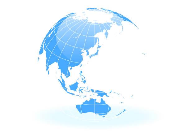青い球形の地球 - 地球点のイラスト素材/クリップアート素材/マンガ素材/アイコン素材