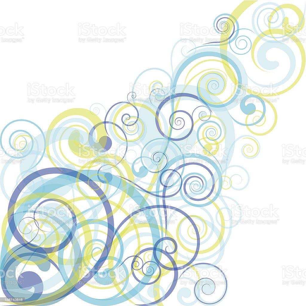 Line Art Design Background : Blue spiral background design stock vector art more