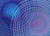 Cold colors spiral vector background.