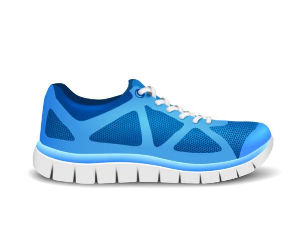 Blue sport Schuhe für Läufer – Vektorgrafik