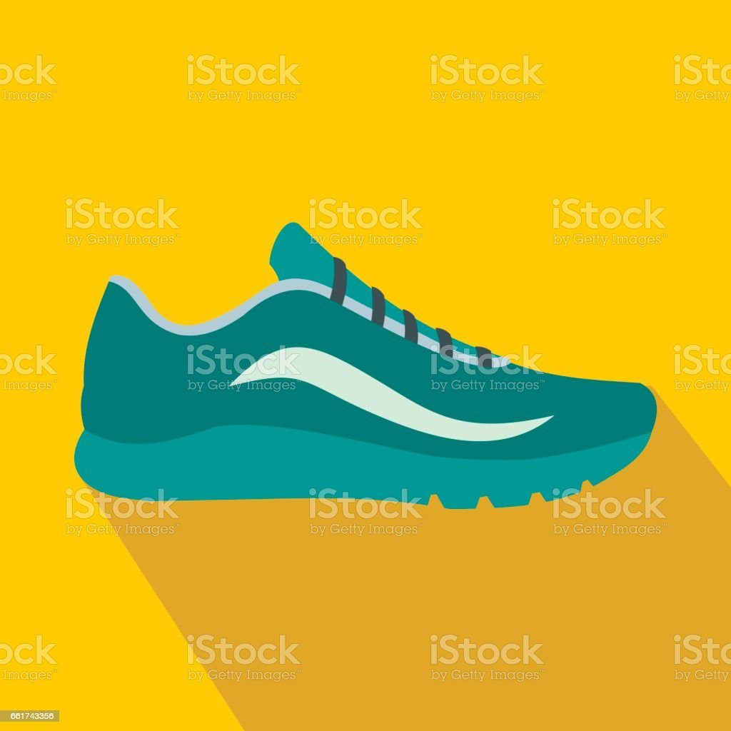 Ícone de sapatos esporte azul, estilo simples - ilustração de arte em vetor