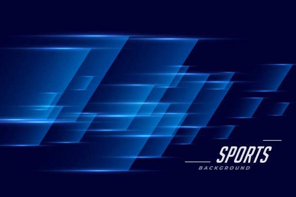 blauer Sporthintergrund im Speed-Effekt-Stil – Vektorgrafik