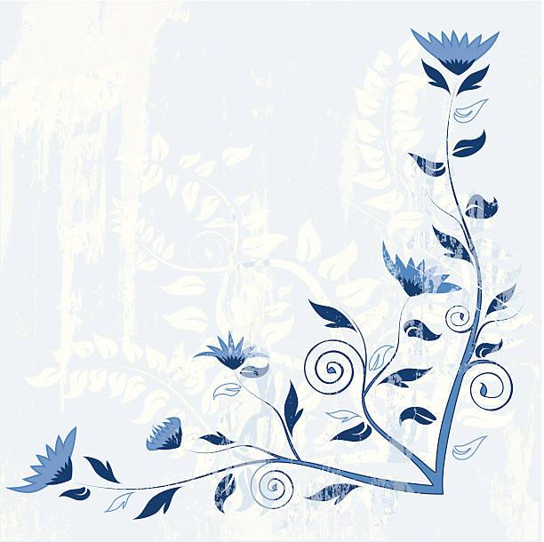 blue spring corner verzierung - gesims stock-grafiken, -clipart, -cartoons und -symbole