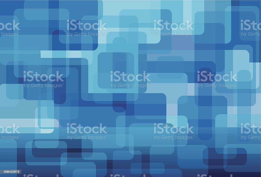 blue square background vector art illustration