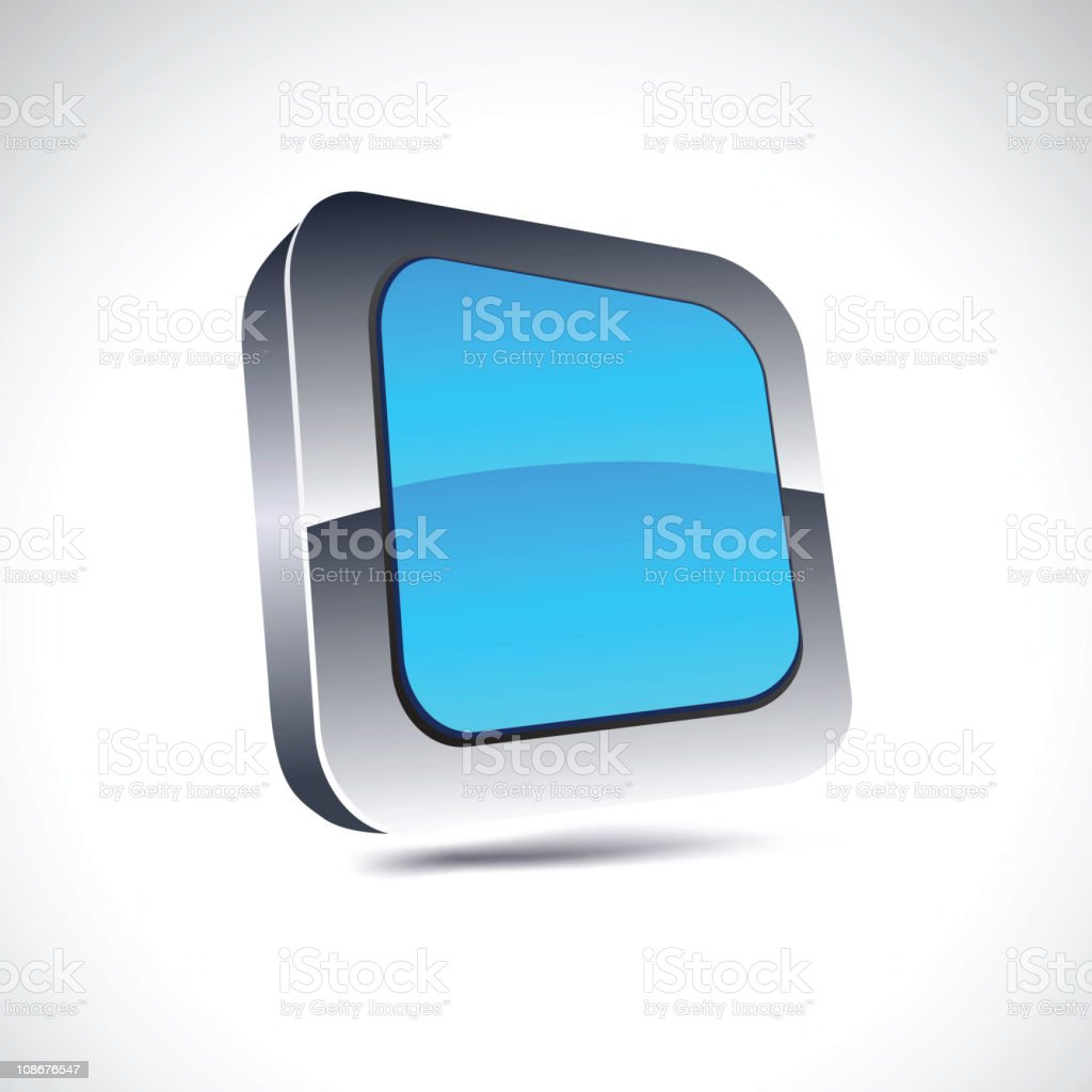 blue square icon. royalty-free stock vector art
