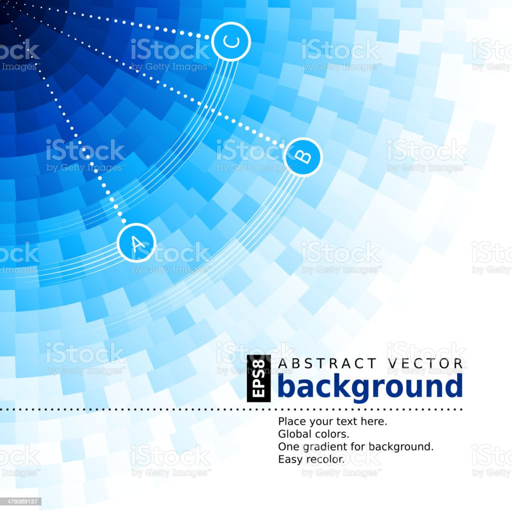 Blue squares abstract background vector art illustration