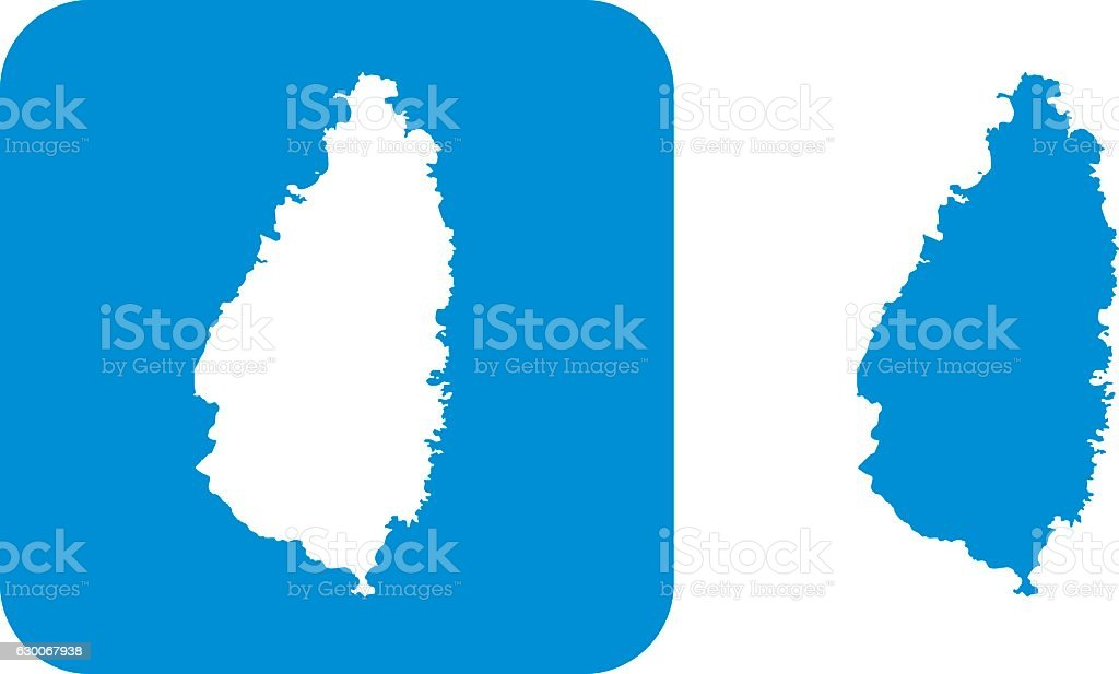Blue St. Licia Icons vector art illustration