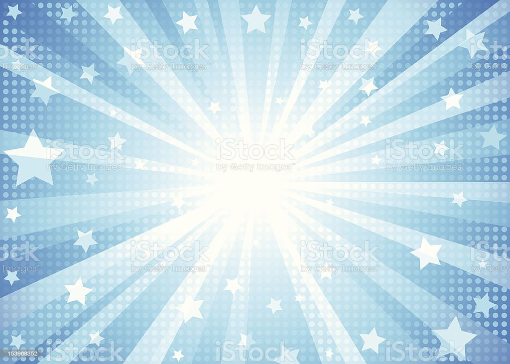 Blue Starburst Background Stock Vector Art & More Images ...