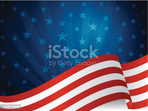 Fourth of July background. EPS10 file format contains blending and transparency. Fully editable in Adobe Illustrator 10> versions.