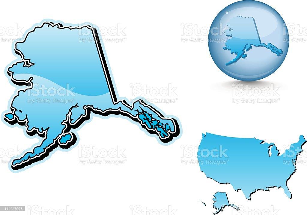 Blue state series -  Alaska royalty-free stock vector art