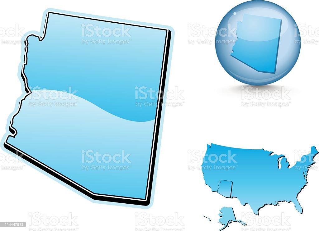 Blue state series - Arizona royalty-free blue state series arizona stock vector art & more images of arizona