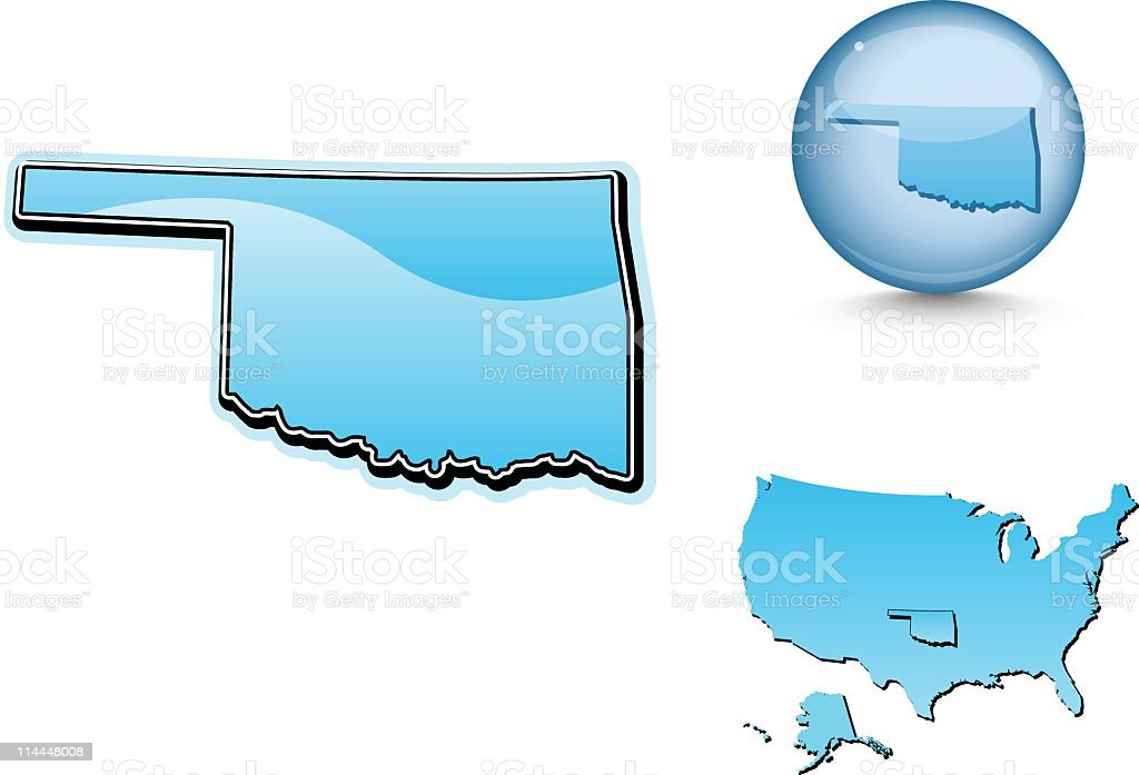 Blue state series - Oklahoma royalty-free stock vector art