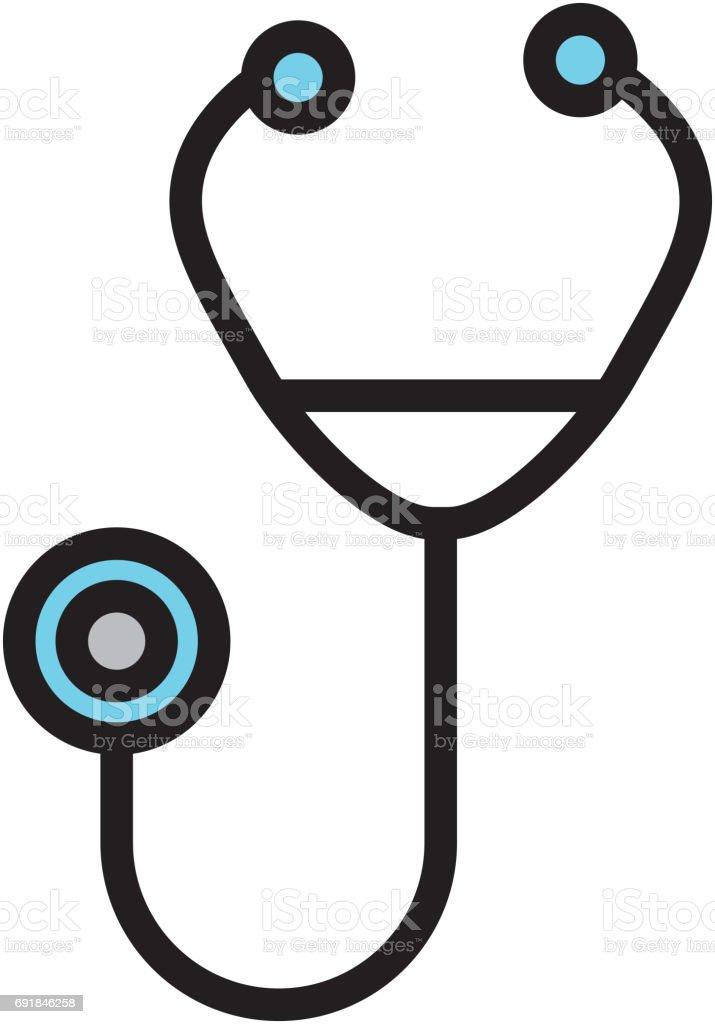 Blaue Stethoskop Cartoon Stock Vektor Art und mehr Bilder von Arzt ...