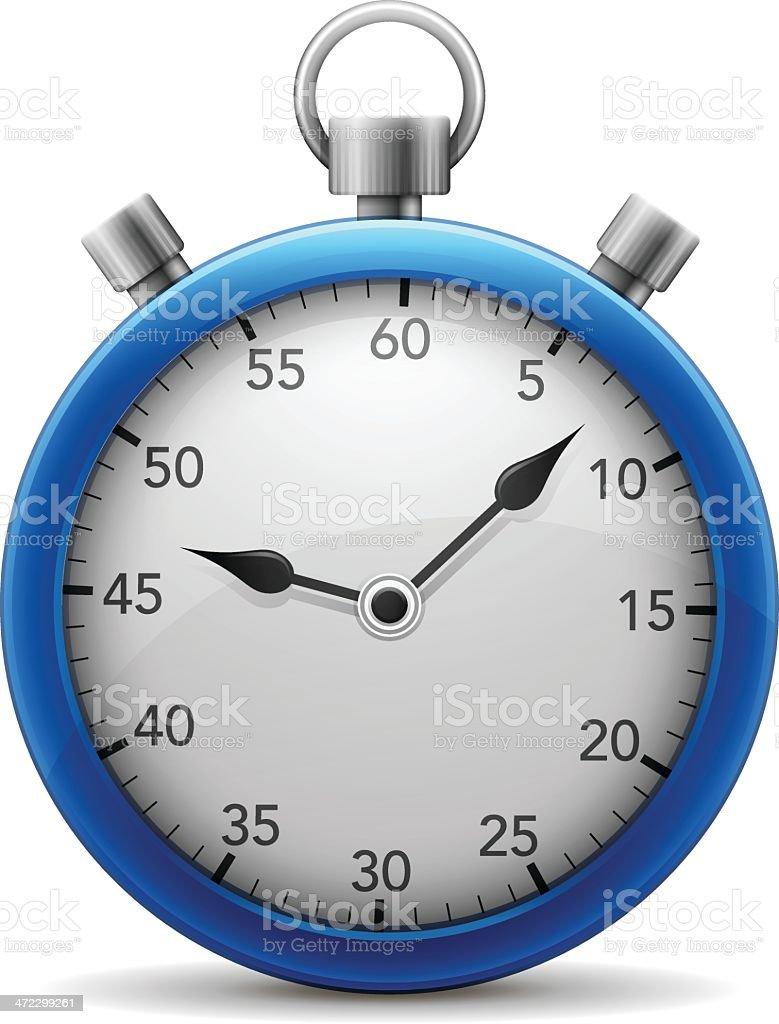 Blue Stopwatch royalty-free stock vector art