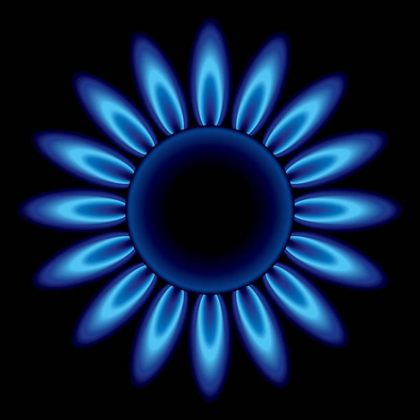 Royalty Free Natural Gas Flame Clip Art, Vector Images ...