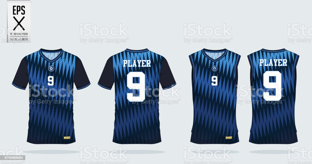 2dc47646e Blue Stripe Pattern Tshirt Sport Design Template For Soccer Jersey ...