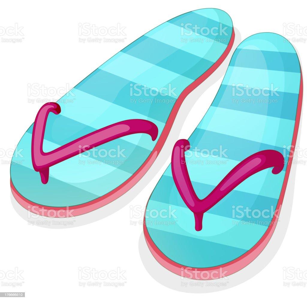 Raya sandalia azul ilustración de raya sandalia azul y más banco de imágenes de aire libre libre de derechos