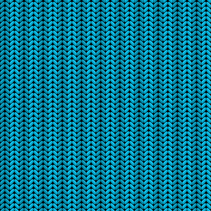 blue striped seamless vector knitted background
