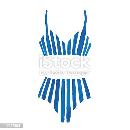 Vector illustration of bikini swimwear.