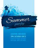 Invite for a summer bbq or birthday party poster