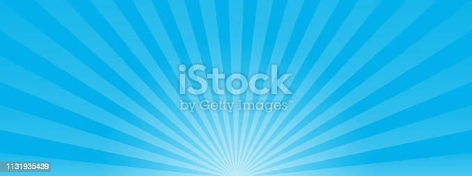 Blue sun ray background. vector eps10