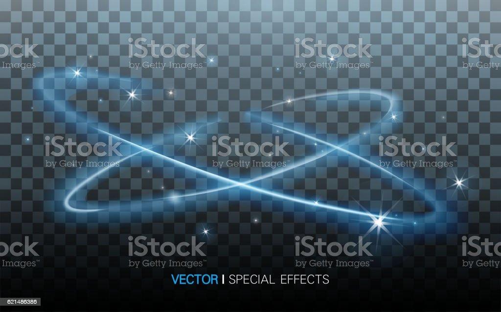 blue surrounding lights blue surrounding lights – cliparts vectoriels et plus d'images de art libre de droits
