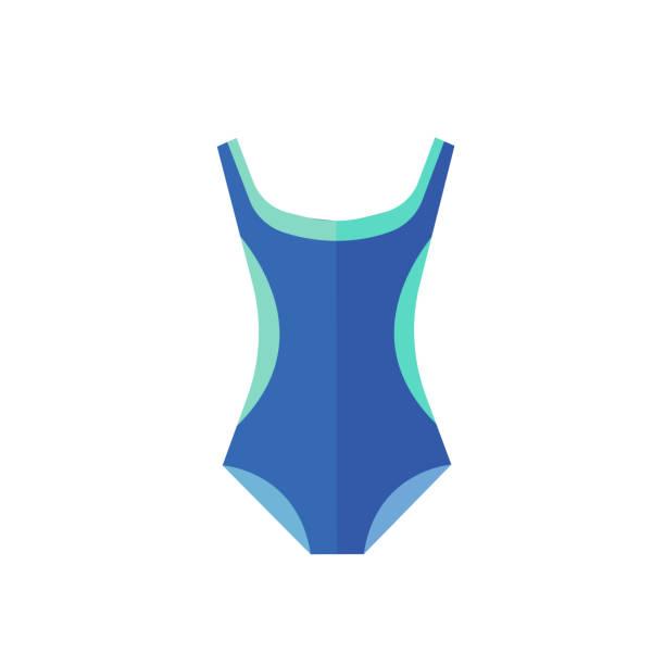 Blauen Badeanzug-Symbol auf dem weißen Hintergrund. Vektor-Illustration. – Vektorgrafik