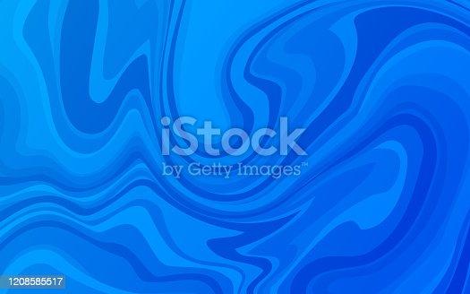 Water blend blue lines swirling ocean sea background.