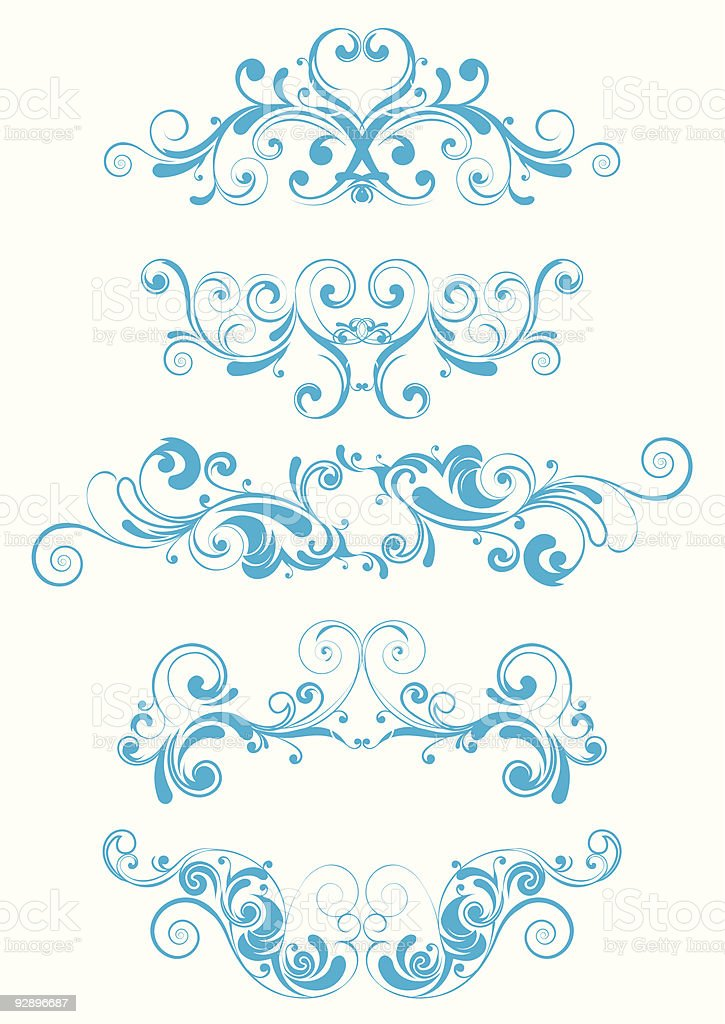 Blue swirl design royalty-free blue swirl design stock vector art & more images of abstract