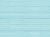 Light blue painted table top background. Top view of painted wooden table. Vector illustration.